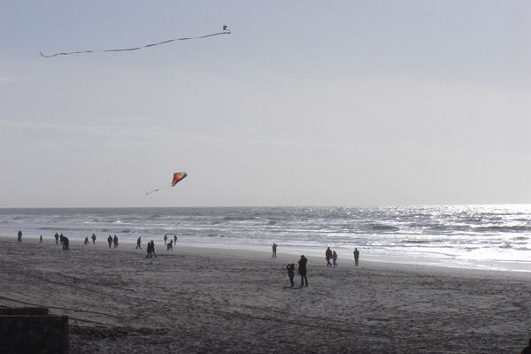 Beach strolling at Le Touquet is popular even in winter
