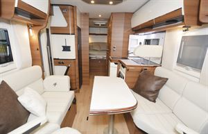 The interior of the Rapido 8086dF motorhome