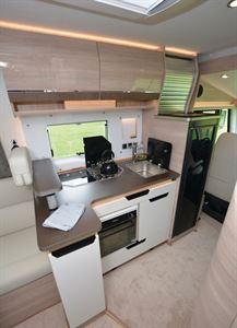 Rapido 854F A-class motorhome kitchen