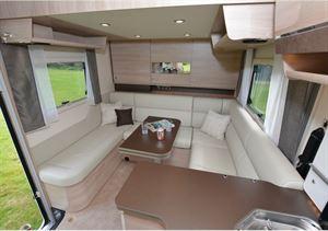 Rapido 854F A-class motorhome rear lounge