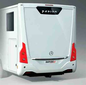 A view of the rear styling of one of Rapido's new M models