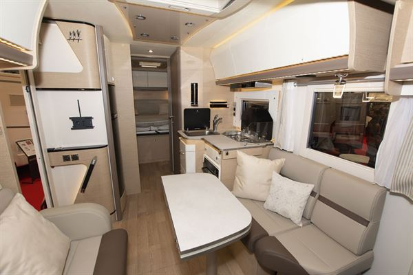 The interior of the Rapido M96 motorhome