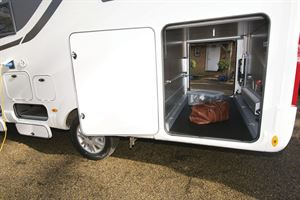 The garage in the Rapido M96 motorhome