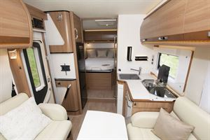 The interior of the Rapido 656F motorhome