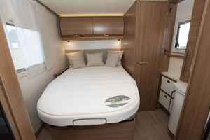 The island bed in the Rapido 656F motorhome