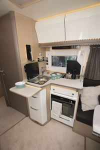 The kitchen in the Rapido M96 motorhome