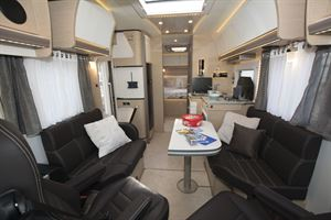 A view of the interior in the Rapido M96 motorhome