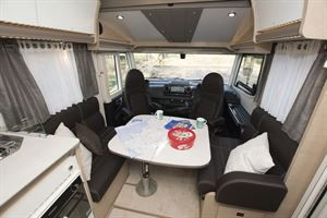 The lounge in the Rapido M96 motorhome