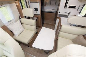 The lounge in the Rapido 656F motorhome