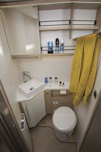 The washroom in the Rapido M96 motorhome