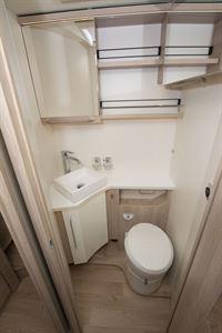 The washroom in the 8086dF motorhome