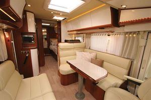 The luxury interior of the new Rapido Distinction