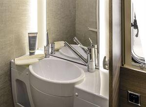 The washroom in the Rimor Evo 77 Plus motorhome