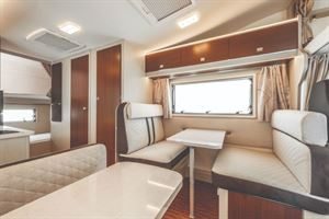Rimor Seal 9 Motorhome interior with Bunk Beds