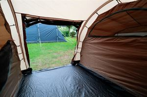 From the outside looking in to the Robens Double Dwell 600 tent
