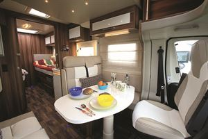 Easily space for four to eat in the dinette
