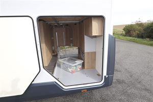 The garage in the Roller Team T-Line 743 motorhome