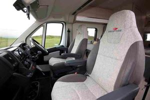 A close-up view of the driver and passenger seats - © Warners Group Publications 2019