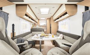 The interior of the Itineo SB700 motorhome