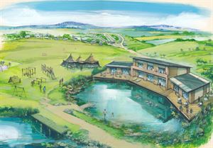 Artists impression of Salops new Shrewsbury campsite