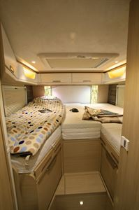 Twin single beds are conventional