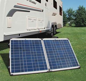 Solar panels for caravanning