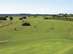 The golf course at Searles Leisure Resort
