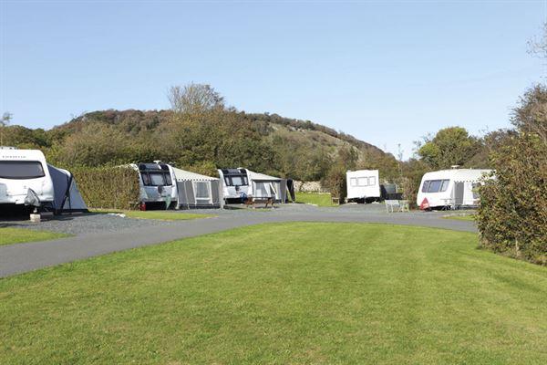 Seasonal caravan pitches at Hollins Farm
