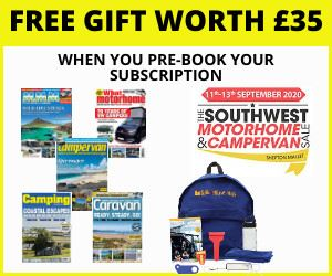 Pre-book your South West Motorhome & Campervan Sale subscription offer