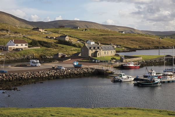The Bridge End Outdoor Centre campsite in Shetland