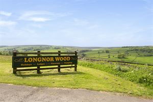 Welcome to Longnor Wood - and look at that view!