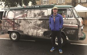 Andrew with his refurbished campervan