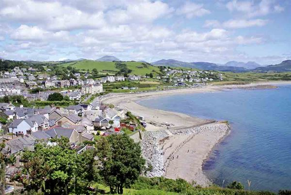 Looking down over the little town of Criccieth and its beach - picture courtesy of Geneve Brand