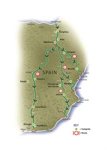 The motorhome routes to Spain