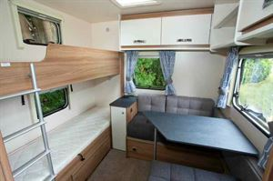Rear bunks and dining area