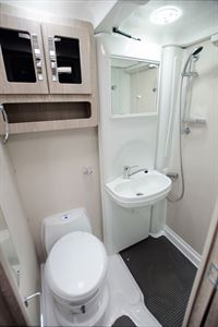 The washroom in the Auto-Sleeper Stanton motorhome