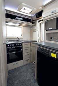 The kitchen in the Auto-Sleeper Stanton motorhome