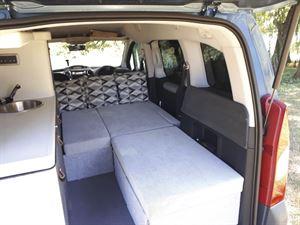 Interior seating in the Stimson Free Spirit campervan