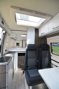 The interior of the Westfalia Sven Hedin campervan