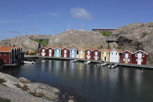 Smogen harbour in Sweden