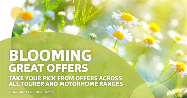 Swift has introduced new spring-time offers on its new caravans