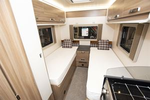 Beds in the Swift Escape Compact C502 motorhome