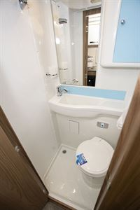 The shower in the Swift Escape Compact C502 motorhome