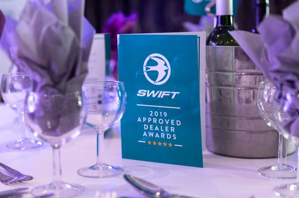 ... and the Swift Motorhome Dealer of the Year is...