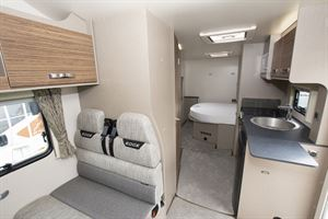A view of the interior of the Swift Edge 494 motorhome