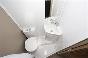 The washroom in the Swift Edge 494 motorhome