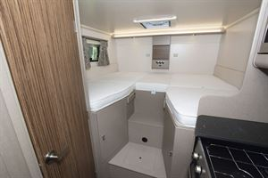 The beds in the Swift Edge 476 Black Edition motorhome