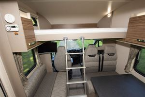 The drop down bed in the Swift Edge 476 Black Edition motorhome