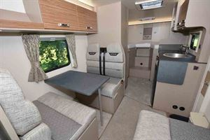 An interior view of a Swift Edge motorhome © Warners Group Publications, 2019