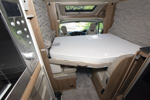 The drop down bed in the Swift Escape 604